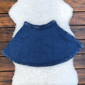 American Apparel Jean Mini Skirt